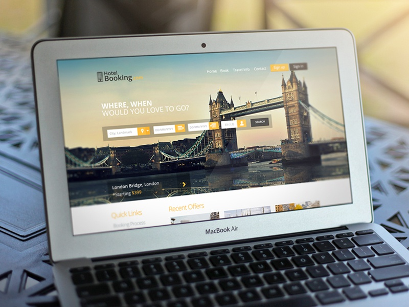 WayFarer Landing Page landing page ui ux design clean yellow dark flat neat image