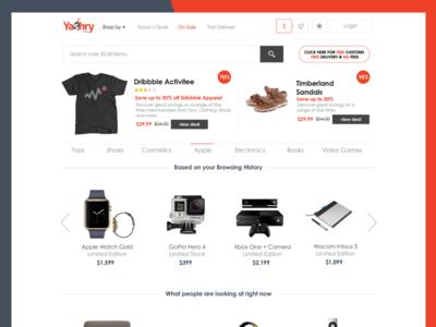 Homepage for a shopping website sketch webdesign ui ux website design page landing e-commerce
