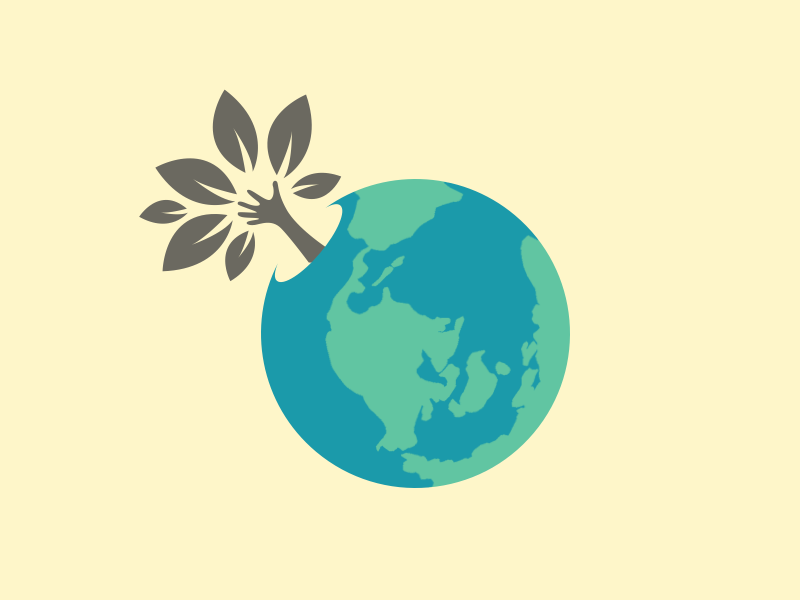 Happy International Earth Day design blue green planet earth illustration