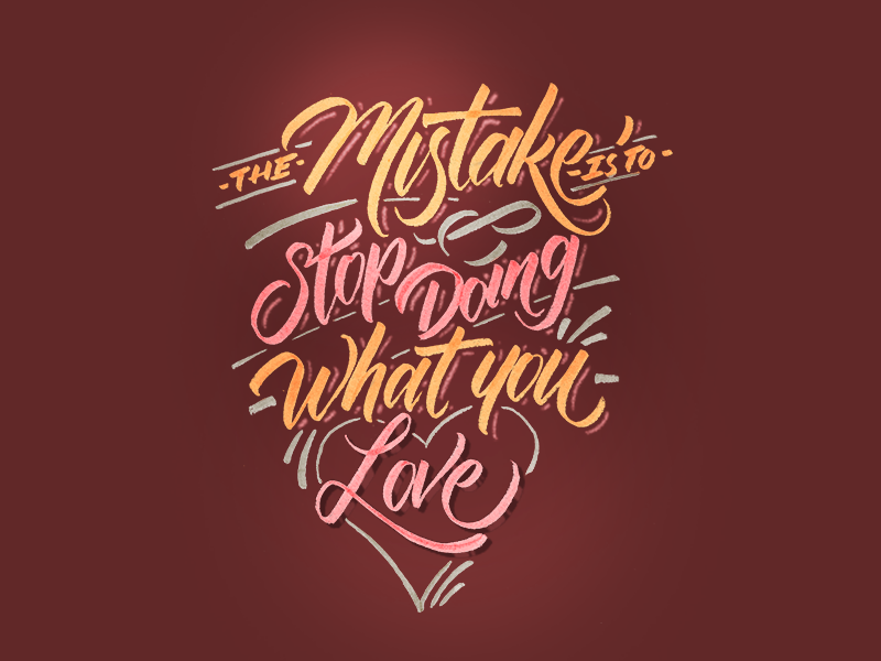 Mistake goodtype typegang type lettering