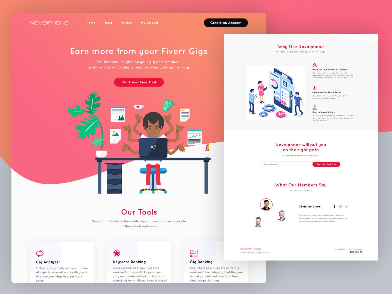 Website UI Design by Zaahir Tech on Dribbble