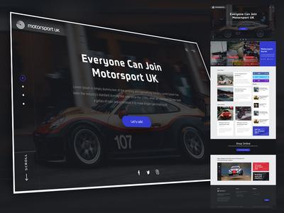 Motorsport UK - Landing Page UI Design