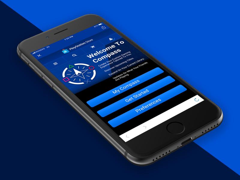 PlayStation Compass -  Mobile App Homescreen