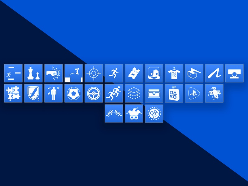 PlayStation Compass - Mobile App Icons prototype sony playstation visual design ui design sketchapp invision ux design
