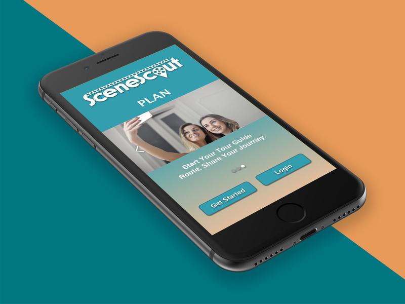SceneScout - Mobile App Introduction film tv travel prototype ui design visual design ux design sketchapp invision