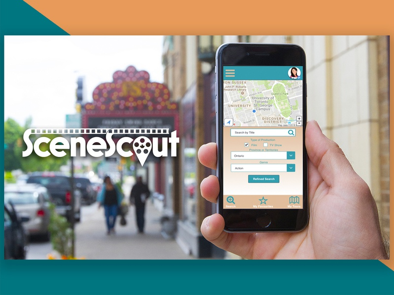 SceneScout - Mobile App Map Search film tv travel visual design ux design ui design sketchapp prototype invision