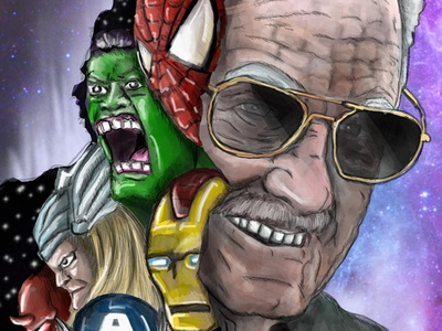 Excelsior - A Tribute To Stan Lee viral content ipad pro stan lee marvel digital illustration procreate photoshop illustration