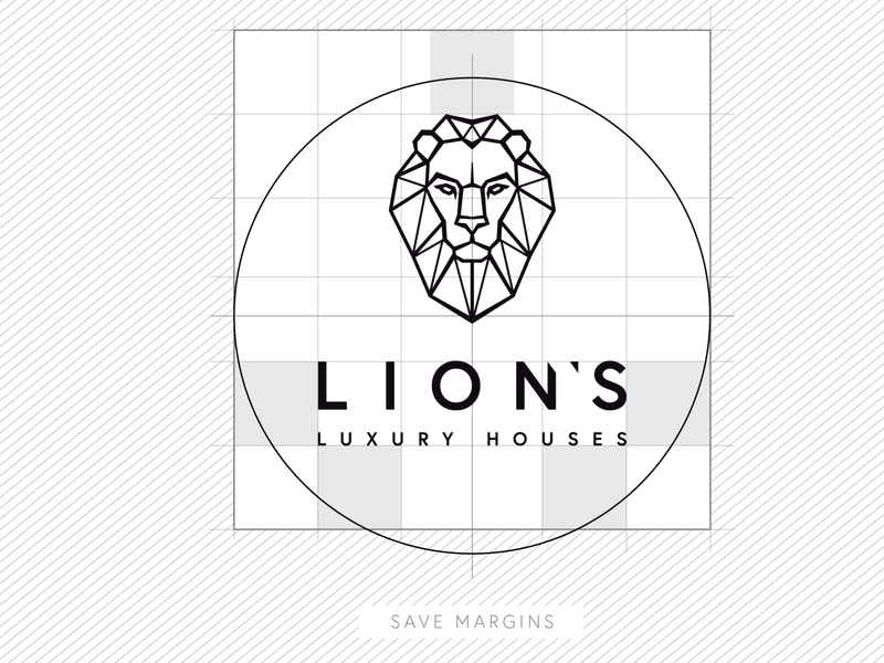 Lion's Luxury Houses linear simple branding prestige luxury logo luxury design luxury branding luxury logo