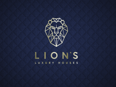 Lion's Luxury Houses simple linear branding prestige luxury design luxury logo luxury branding gold luxury logo