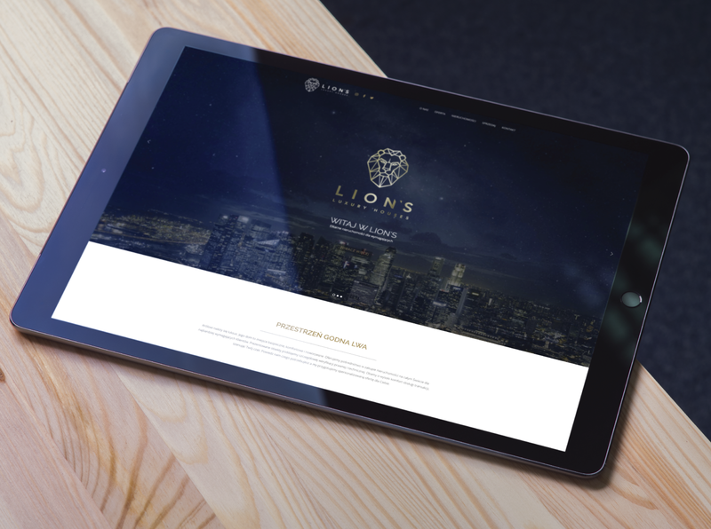 Website Lion's Luxury Houses mobile design responsive website real estate branding prestige luxury logo luxury design luxury branding luxury webdesign website