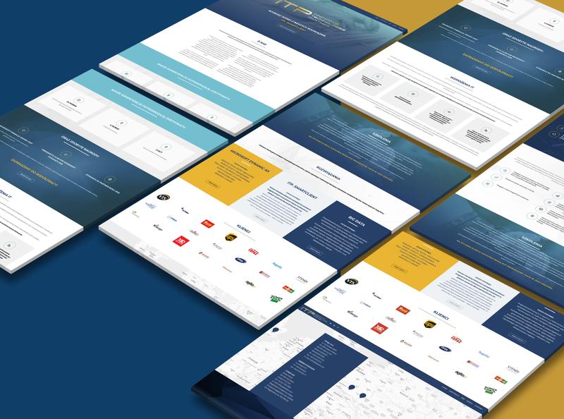 ITP Innovative Technologies Partner Website responsive website responsive design software modern blue orange technologies innovative it website design website web
