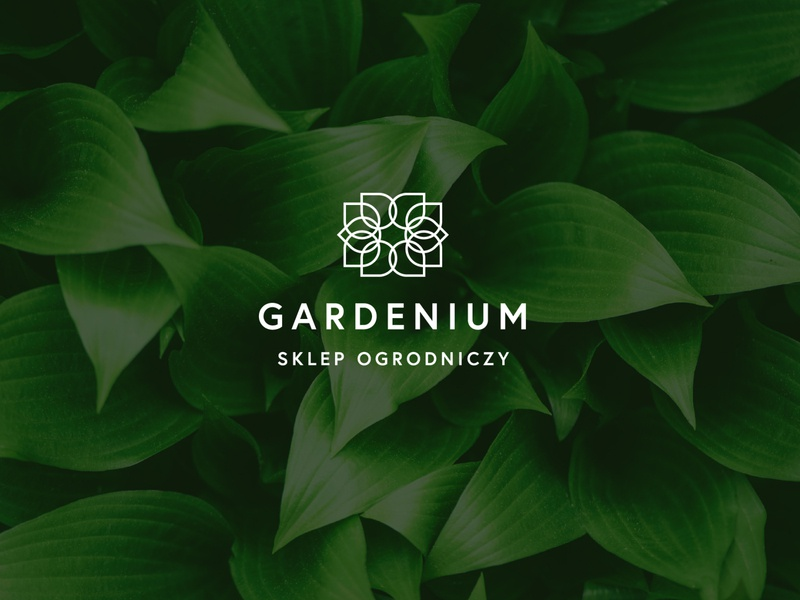 GARDENIUM - Garden Shop logo design luxury design luxury logo luxury floristic lineart green garden shop shop flower garden logo