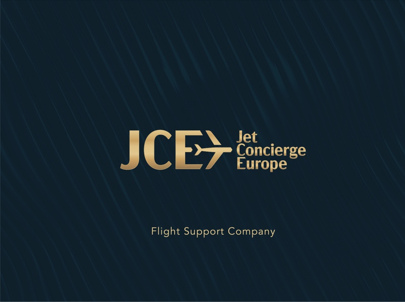 Jet Concierge Europe luxury design luxury branding luxury logo concierge gold jet ailine luxury visual identity branding design branding logo
