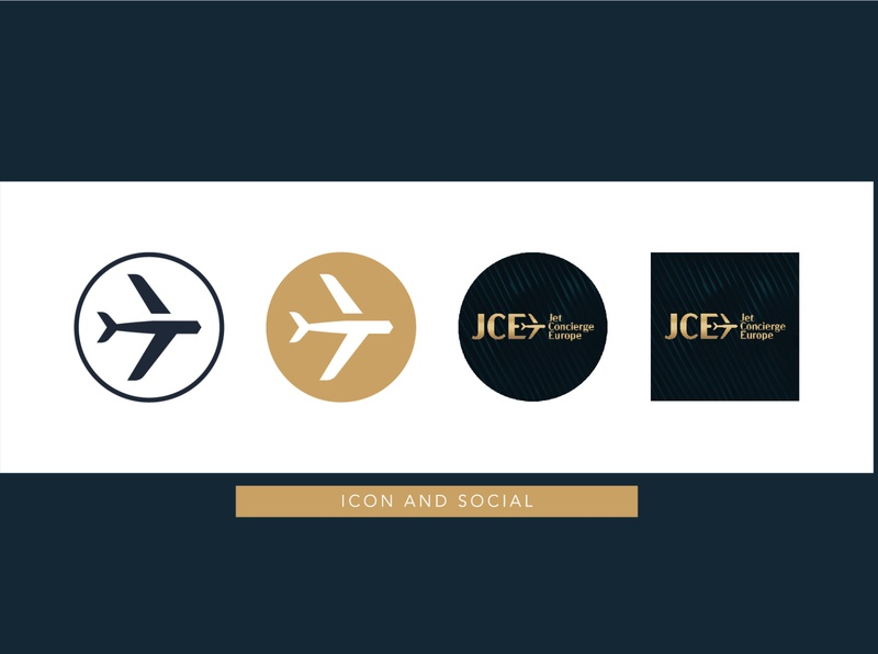 Ikon and social for Jet Concierge Europe prestige branding gold luxury logo luxury design luxury branding luxury logo socialmedia social icon design icon