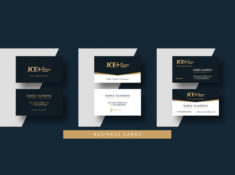Bussines cards Jet Concierge Europe branding gold luxury logo luxury design luxury branding luxury concierge jet airlines airline business businesscard business card design business cards bussines card
