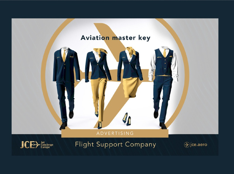 Advertising example for Jet Concierge Europe prestige branding luxury luxury logo luxury design luxury branding concierge airline jet post outdoor advertisement advertisment advertise advertising