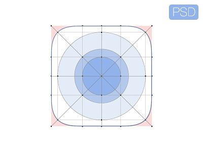 iOS7 icon ios7 template psd vector