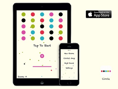 Circle~ Available on the App Store circle game ios