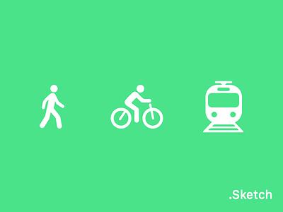 ETA icon (Sketch freebie) cycling cycle walk freebie sketch vehicle