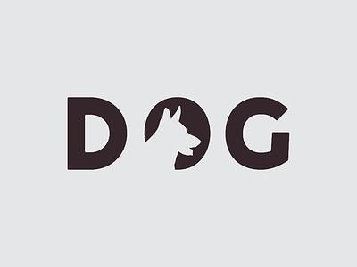 D O G word minimalist minimal animal art branding brand illustration dog