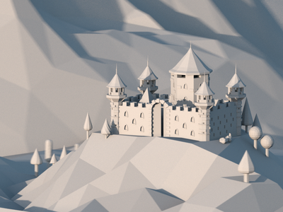 A Fortress Test octanerender fortress castle 3d 3d art