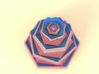 Geometric Flower Abstraction geometric 3d artist motion graphics 3d motion design 3d geometry flower 3d abstract animation after effects adobe abstract