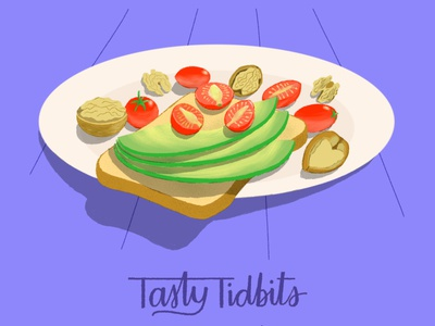 Tasty Tidbits homework tasty tidbits illustration for motion school of motion breakfast vegan healthyfood photoshop illustration motion design
