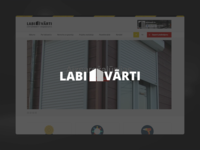 Labivarti.lv - Informative page layout