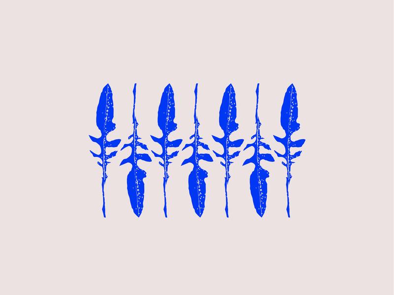 Dandy Lion Leaves nature pattern flower blue illustration icon
