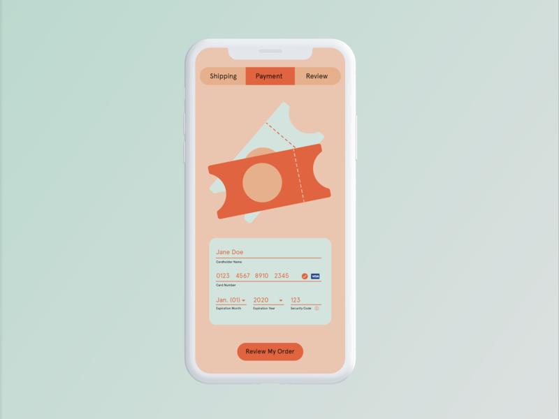 Payment Screen - Daily UI 002 user interface design interface design design adobe photoshop adobe illustrator ux ui design ux ui