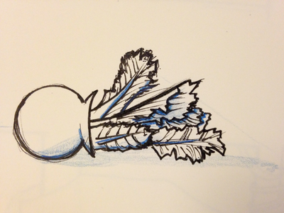 Rough plant sketch sketch