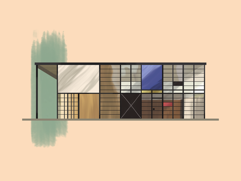 Charles & Ray Eames—Case Study House #8 los angeles case study home architecture design midcentury modern midcenturymodern midcentury illustration gouache brushes 30daychallenge