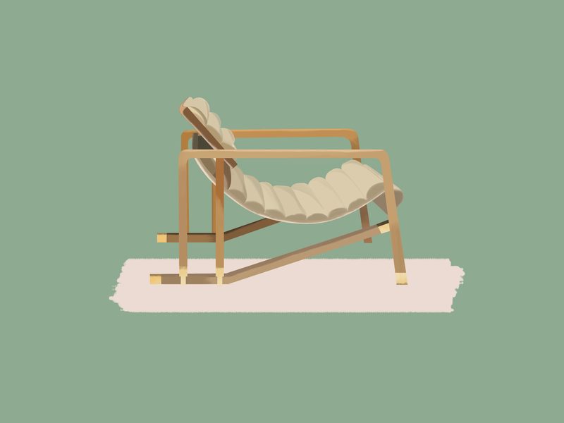 Eileen Gray—Transat Chair transat eileen gray chair furniture design design midcentury modern midcenturymodern midcentury illustration gouache brushes 30daychallenge