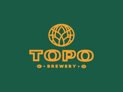 Topo Brewery Logo Concept 01