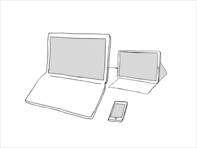 Device Illustration device wireframe illustration