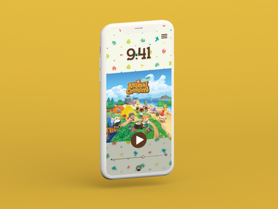 Animal Crossing Tunes! adobe xd animation animal crossing app ux ui design affinity designer