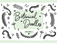 Botanical Line Doodles vol. 1