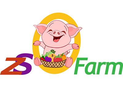 ZS Farm Logo illustration graphic design