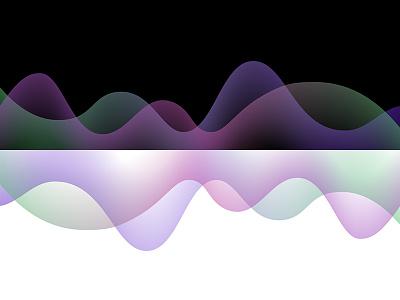 Gradient curve patterns with black & white background gradient color graphic design vector illustration