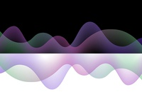 Gradient curve patterns with black & white background