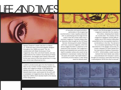 Herb Lubalin Magazine Spread
