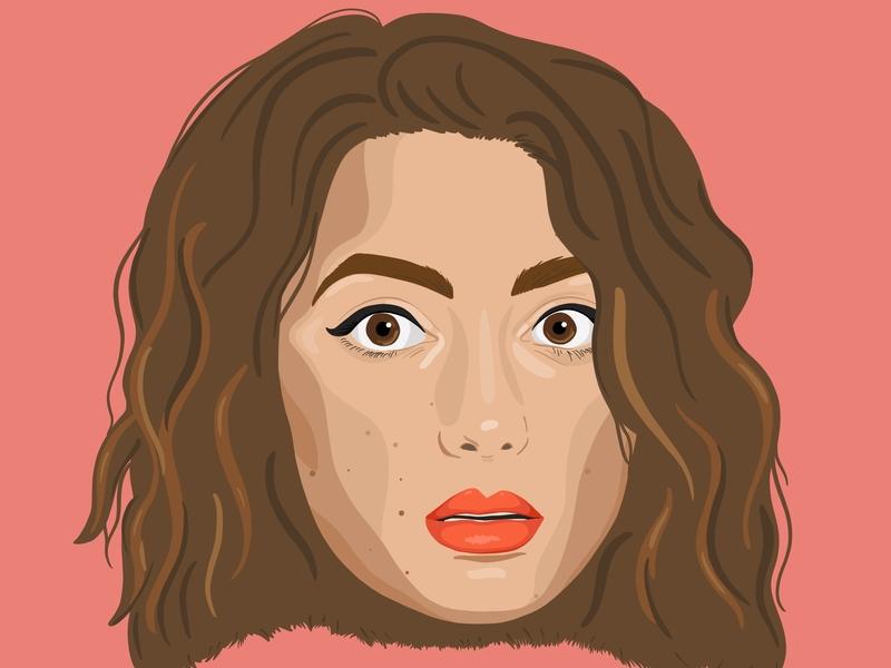 illustrated Portrait illustrator illustration design illustration face performer comedian face portrait