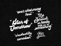Hand Lettered Blurbs For Website