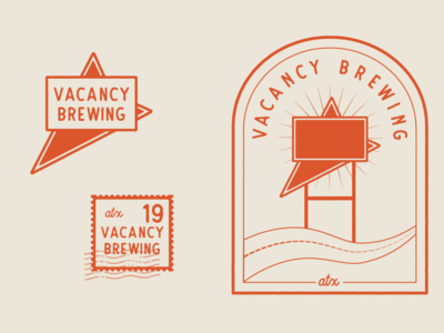Vacancy Brewing Logo Variations