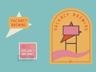 Vacancy Brewing Logo Color Variations