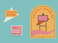 Vacancy Brewing Logo Color Variations