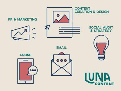 Luna Content Web Icons