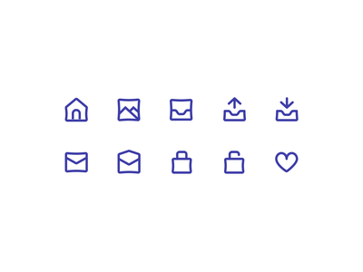 Preview of Nataicons, our open source icon set purple preview ecommerce simple minimal open source lines stroke icons icon designs icon