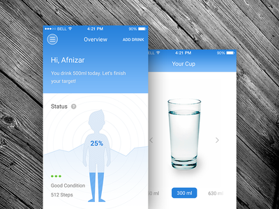 Smart Water Application visualization personalize gradient app internet of things water home automation concept flat smart application