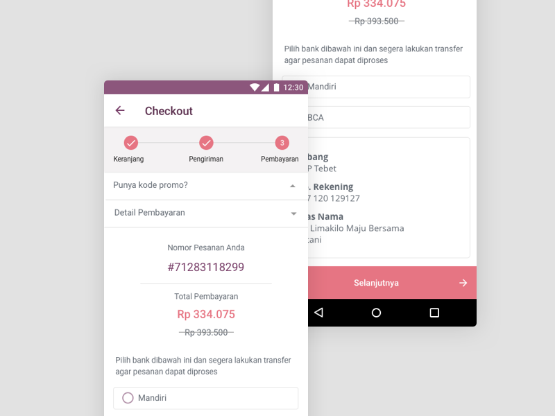 Limakilo android checkout process